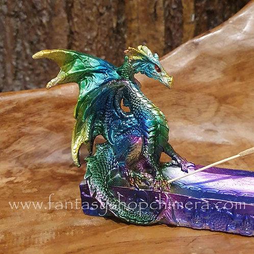 Rainbow Dragon Incense Holder