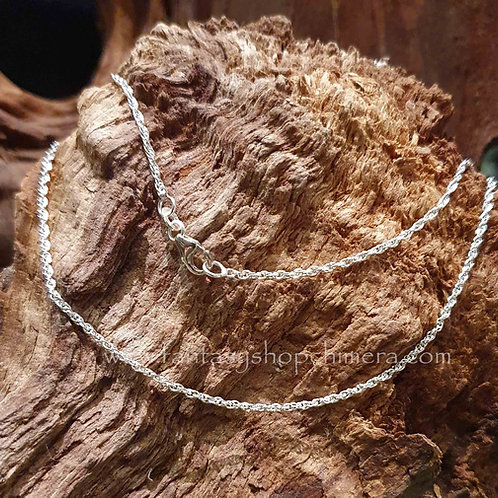 silver chain pendant necklace zilveren ketting kettinkje voor hangertje