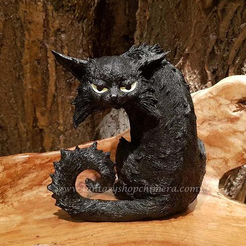 spike franz grumpy black cat witch figurine zwarte kat beeldje beeld tuin decoratie