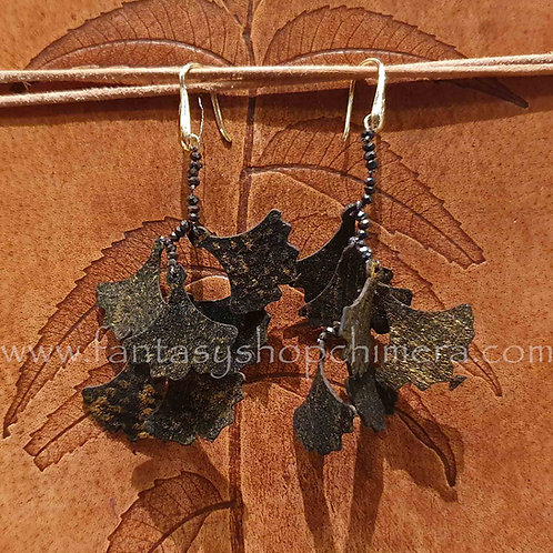 ginkgo leave earrings oorbellen blad biloba nature bohemian jewelry sieraden