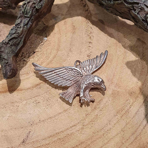 eagle charm pendant necklace silver flying bird adelaar arend hanger zilver vliegende vogel