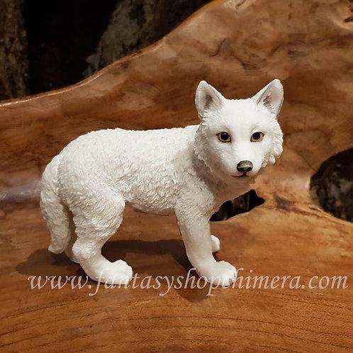 wolfie wolf pup white witte wolf beeldje