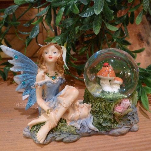 Fairy mushroom ball with snow