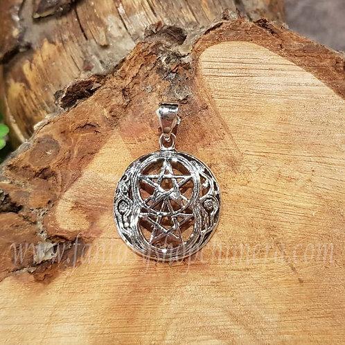 Challice Pentagram pendant silver wicca pagan symbol symboliche zilver fantasie sieraden fantasy shop amsterdam  jewellery
