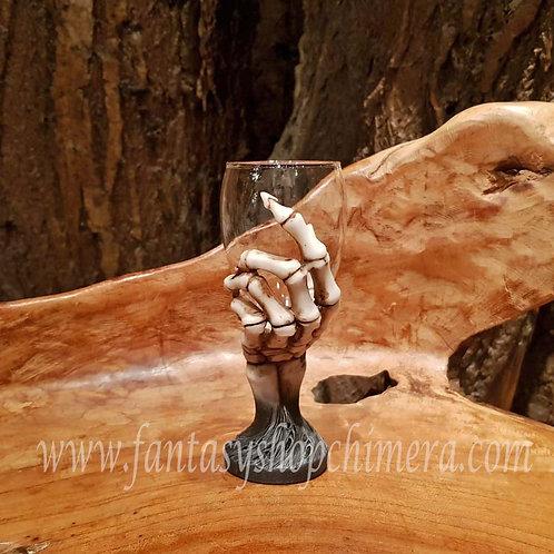 last toast wine glass skeleton hand skelet hand wijnglas gothic fantasy shop drinkbeker amsterdam fantasyshop