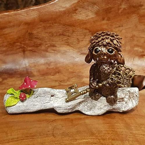 Jabba little wumbler ooak handmade fantasy art creature goblin fantasie figuurtje wezentje fantasy shop chimera