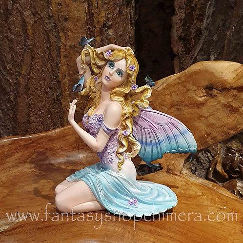 July fairy with butterflies figurine beeldje elf met vlinders