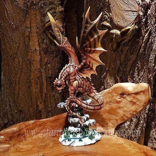 shenron dragon large figurine statue grote draak drakenbeeld beeld rood fantasy shop