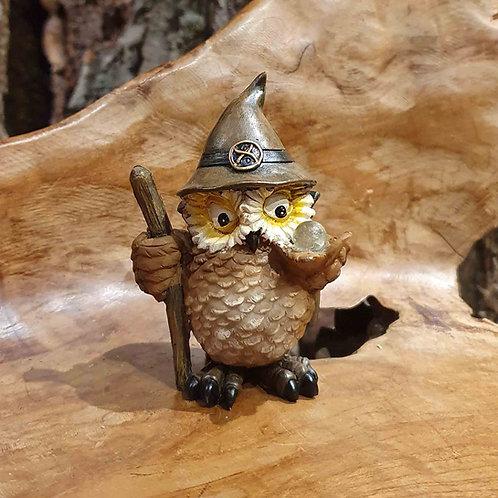 crystal ball wizard owl fantasy uiltje tovenaar uil beeldje uilenbeeldje