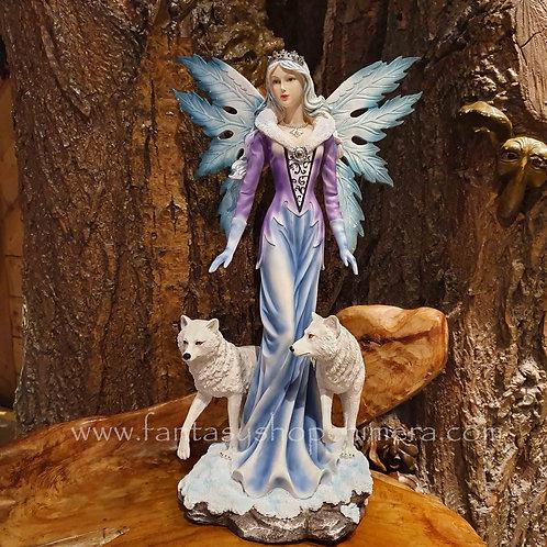 fairy queen wolves figurine statue beeld elf koningin wolven fantasy shop chimera amsterdam