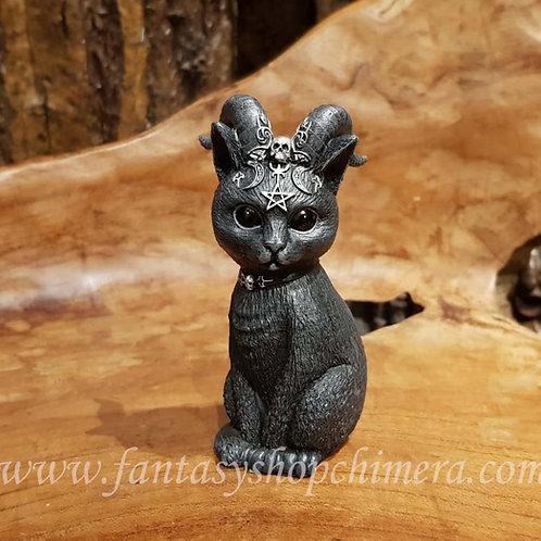 pawzuph black kitten cat horns katje met hoorns