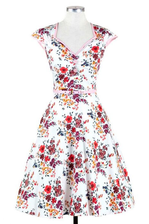 Bella blossom dress lady vintage alternatieve kleding swing hillbilly 50's stijl style summer zomerjurk amsterdam