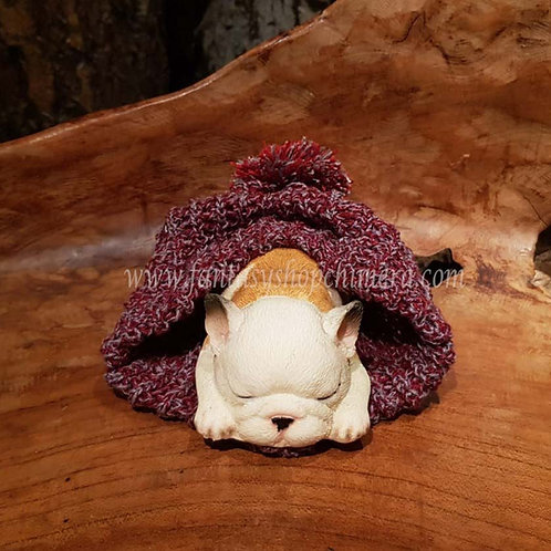 Little Pablo dog puppy hondje sleeping hat muts figurine beeldje fantasy shop chimera gift store winkel cadeautjes