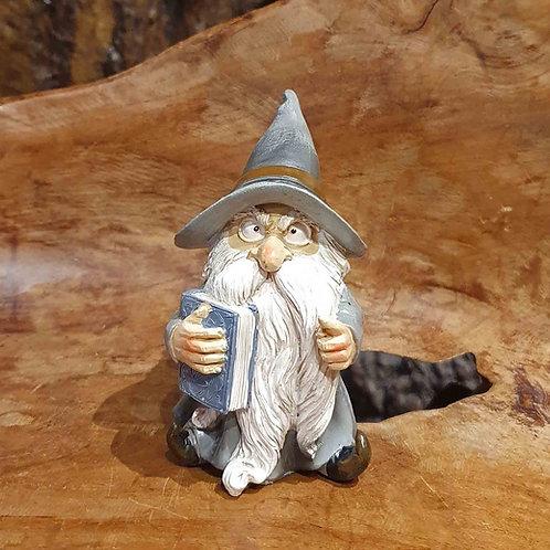 wise wizard figurine gandalf with book tovenaar met boek beeldje