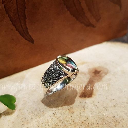 phoenix fenix zegelring seal wax ring silver zilver fantasy shop sieraden winkel amsterdam