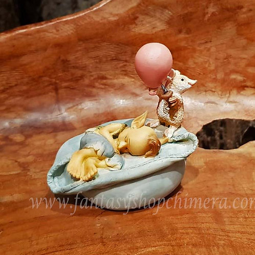 time to wake pixie figurine mice mouse beeldje van pixie met muisje fantasy shop chimera amsterdam