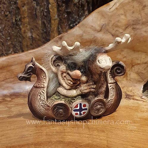 troll viking boat moose nyform original norway norwegian trol boot eland originele noorse trol