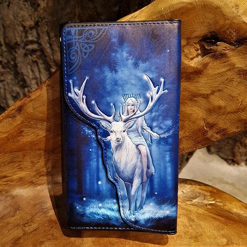 fantasy forest stag purse winter anne stokes hert portemonee fantasy art
