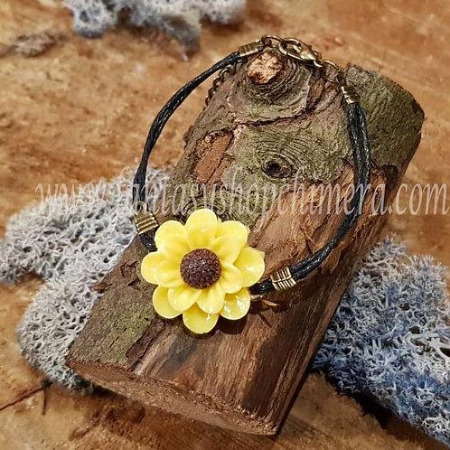 yellow flower fairy bracelet elfenarmband gele bloem aparte sieraden boho jewelry jewellery
