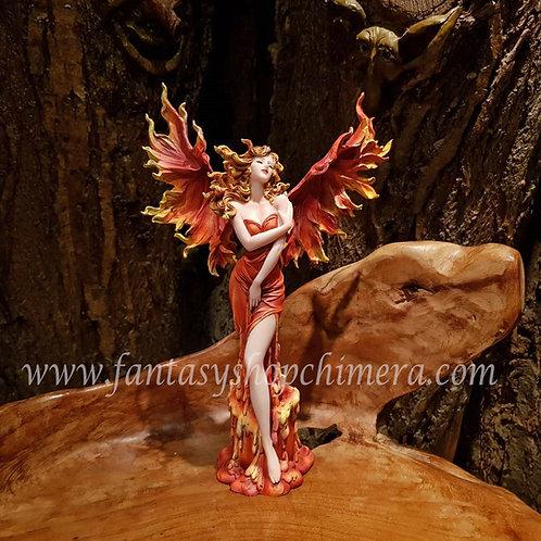 Phoenix fenix elf fairy beeldje statue figurine flames vlammend vrouw lady fantasy shop amsterdam