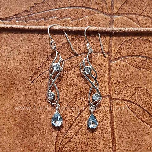 Aquamarine Fantasy earrings