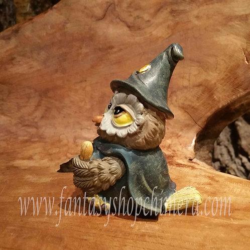 owl wizard sorcerer magician tovenaar uiltje beeldje figurine