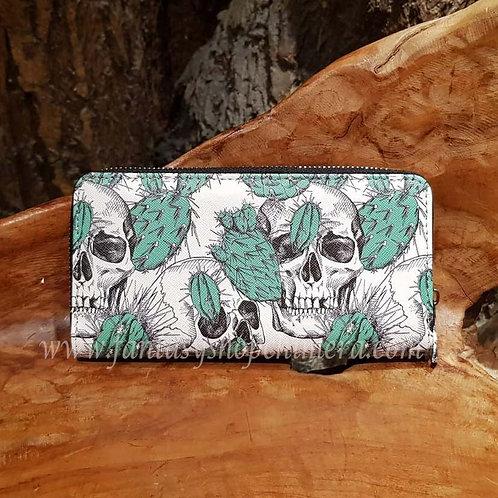 Skull cactus purse wallet portemonee kaktus schedels portefeuille fantasy shop alternatieve kleding winkel amsterdam