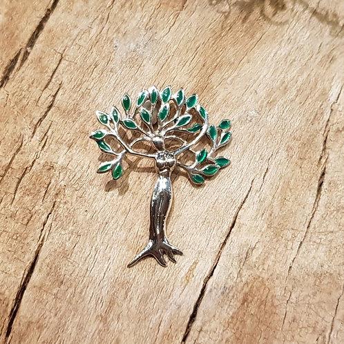 dryad dryade boom tree nymph fee godin hanger zilver pendant silver