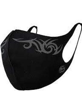 tribal face mask protection black gezichtsmasker zwart