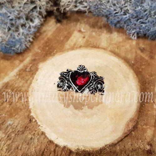 bethrothal gothic ring love red heart rood hart sieraden liefde fantasy shop chimera amsterdam store winkel