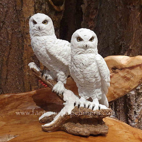Snow wisdom white owls figurine witte sneeuwuilen harry potter beeld