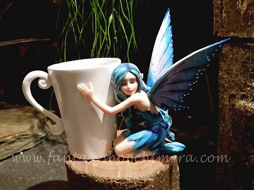 Blue tea cup fairy