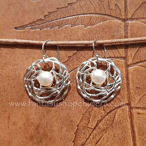 silver earrings pearl parel oorbellen zilver