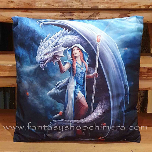 dragon mage cushion kussentje met draak afbeelding anne stokes
