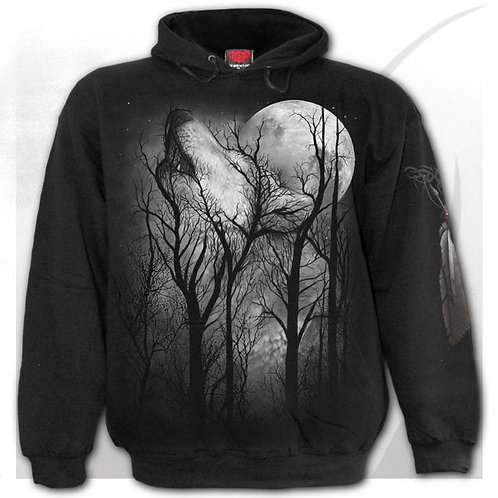 forest wolf hoodie hoody alternative clothes anne stokes design spiral kleding trui sweater wolven afbeelding