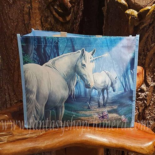 Journey home unicorn shopper lisa parker boodschappentas eenhoorns schoudertas