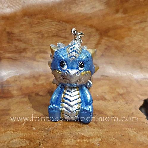 baby dragon key ring keychain gift klein cadeautje sleutelhanger baby draakje blauw