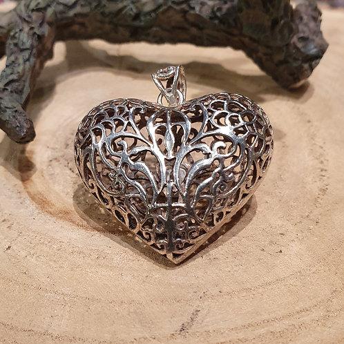 heart filigraine love necklace hart hanger pendant silver zilver liefde valentijn