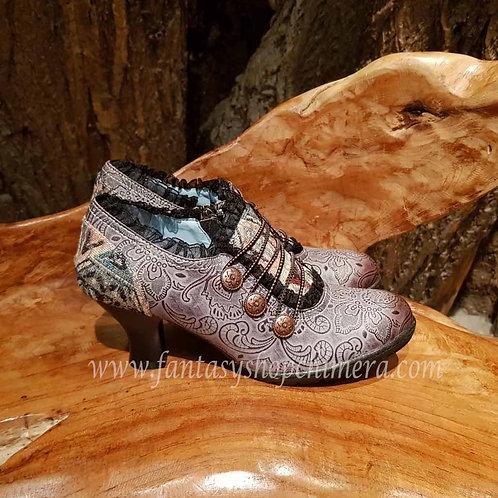 steampunk leather shoes schoenen vintage look style stijl LARP alternatieve kleding