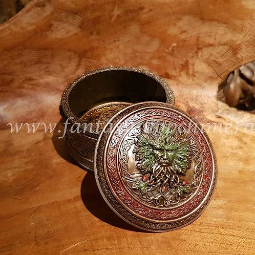 Treasure of oak box green man doosje blad gezicht wicca magie magic fantasy shop tree boom