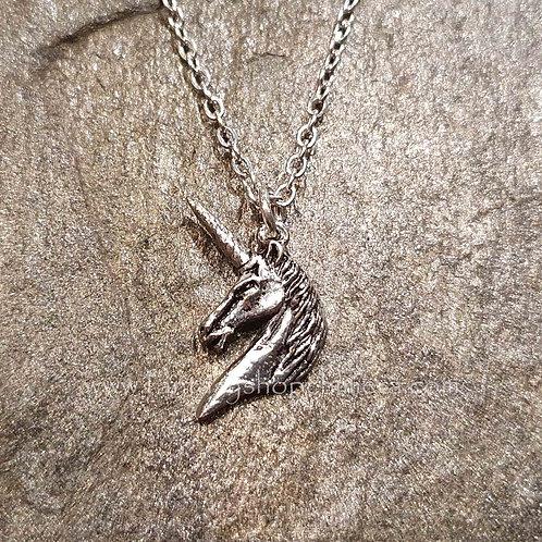 unicorn head pendant alchemy jewelry sieraden eenhoorn hoofd hanger ketting