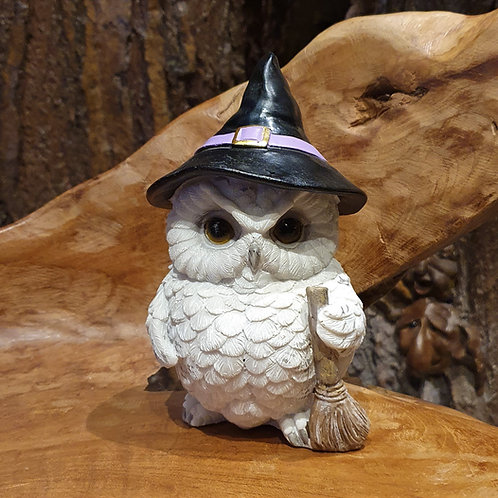 owls magic wizard figurine tovenaar uil beeldje uiltje figuurtje