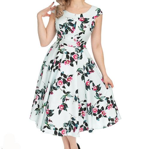 Elena dress swing flowers summer h&r alternative wear hillbilly jurkje 50's style stijl fantasy shop kledingwinkel amsterdam