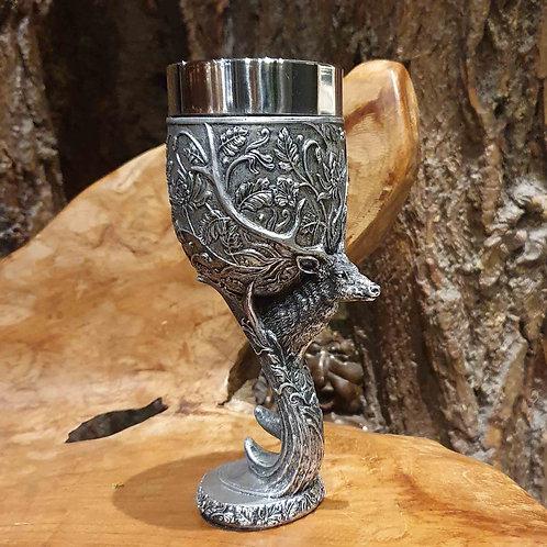 monarch of glen chalice goblet stag deer forest hertengewei hert bokaal wijnbeker wijn wine