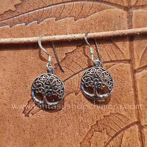 tree of life levensboom earrings silver zilveren oorbelen keltisch symbolisch