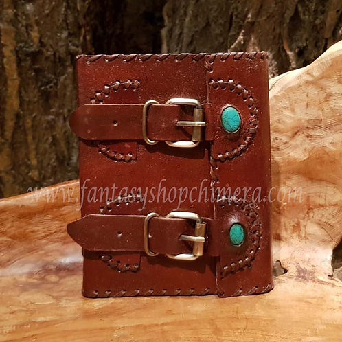 Belted leather journal diary book notes leren boekje tekenboek opschrijfboek dagboek notitieboek fantasy shop