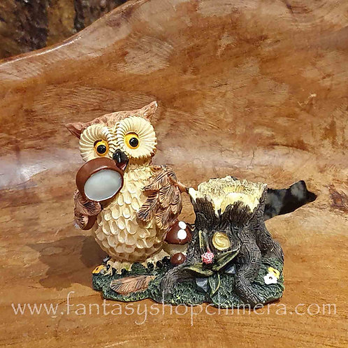 owl magnifier pen holder stationary desk uiltje penhouder bureau accessoires accessories
