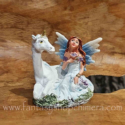 fairy unicorn friend figurine eenhoorn elfje beeldje fantasy shop blue