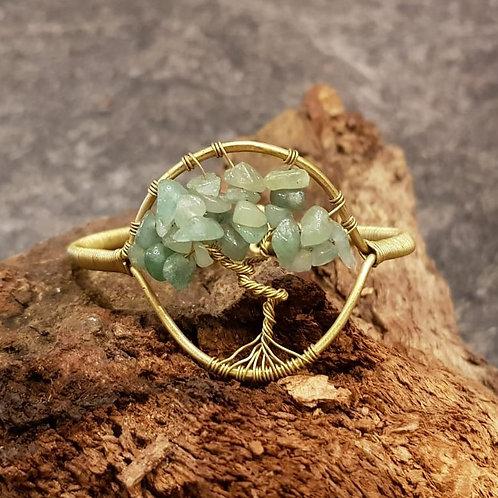 tree of life bracelet aventurine aventurijn levensboom armband messing koper