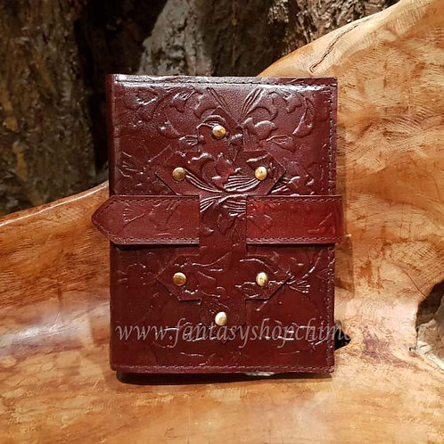 The chambre brown leather journal diary book notes leren boekje tekenboek opschrijfboek dagboek notitieboek fantasy shop